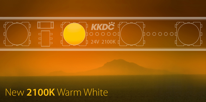 New 2100K 'Sunset' Warm white