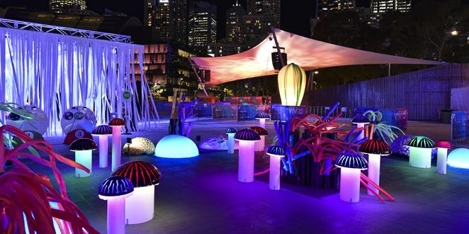 Enchanted Garden at Tumbalong Lights, Sydney